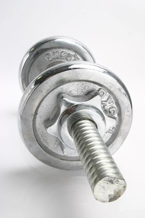 The isolated a dumbbell on the white