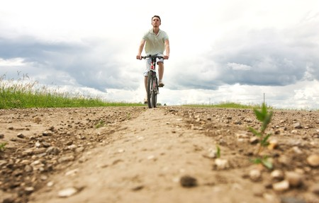 man on bicycle Stock Photo - 7865687