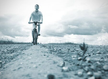 man on bicycle Stock Photo - 7865646