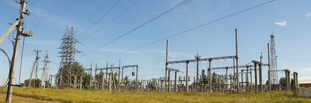 pano: High voltage electricity pillars, pano
