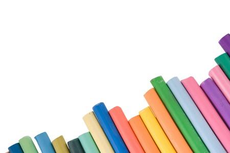 multi color pencil. on white