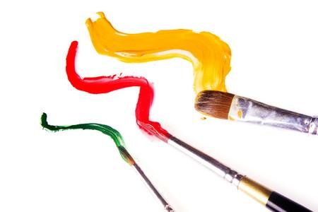 color color palette: paint brush and paint