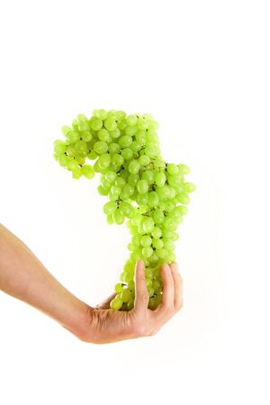 grape on a hand isolated photo