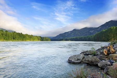 beautiful hill valley, panorama photo