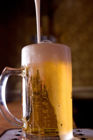 Glass of beer on pub Stock Photo - 7866118