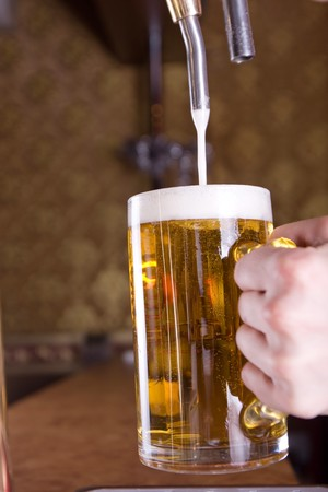 Glass of beer on pub Stock Photo - 7866074