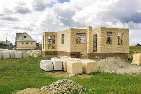 Home under construction - brick house