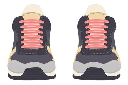 Buty sportowe. Sneaker na białym tle