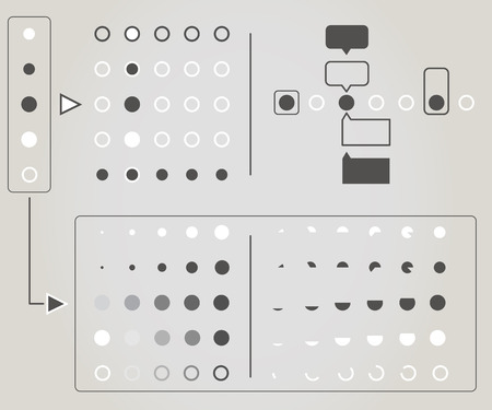 score board: Dot navigation white and grey icon ready for animation Illustration