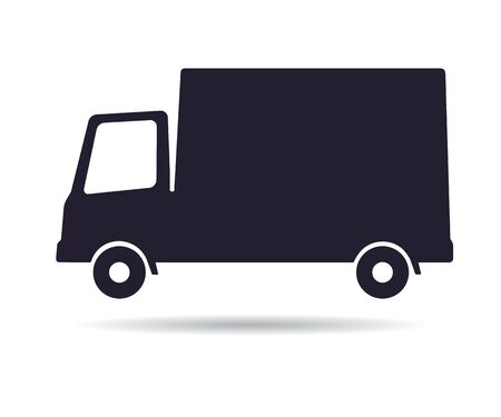Delivery truck icon, illustration isolated on white