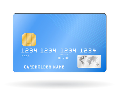 Credit card, illustration isolated on white Vettoriali