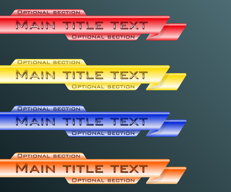 Set banners lower third blue, red, yellow and orange. Vector illustration. Фото со стока - 58952357