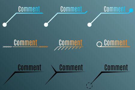 annotation: Annotation or comment for motion design. Vector illustration Illustration