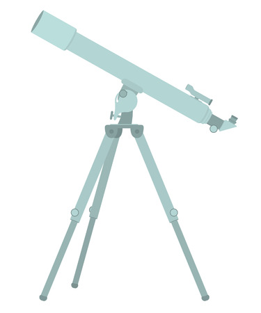 Telescope flat design. Vector illustration isolated on white Ilustrace
