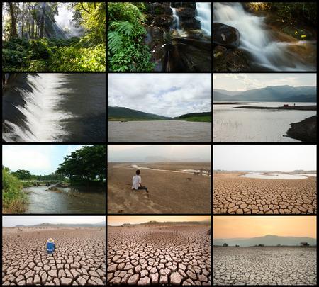 Der Klimawandel Geschichte Standard-Bild