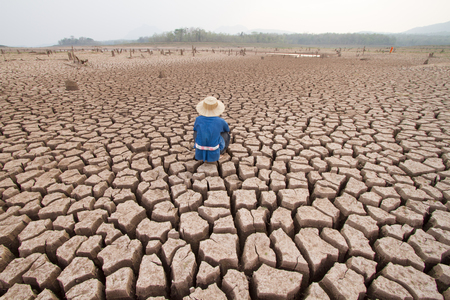 man and climate change 写真素材