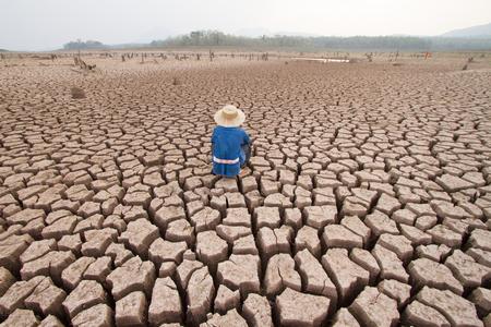 man and climate change Archivio Fotografico