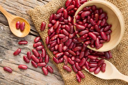 cookware: Red bean on rural cookware organic farm concept