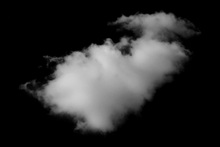 fairly: Cloud isolated on black background Stock Photo