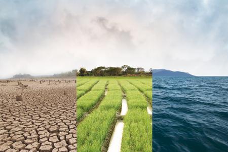 Konzept für Klimawandel und Eiszeiten Standard-Bild