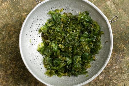 Algues de la terre, nourriture rurale thaïlandaise exotique