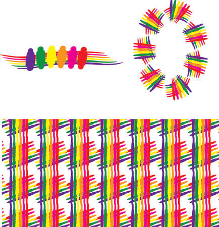 boarder: a set of rainbow graphic, pattern, brush, line, boarder, vector