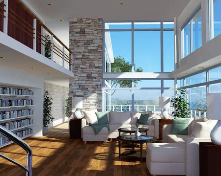 penthouse: Modern apartment interior