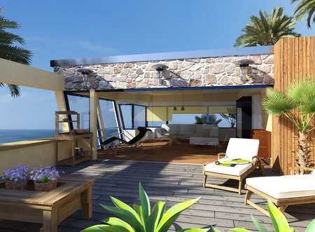 Garten Terrasse Design ? Reimplica.info Moderne Gartenterrasse Wohnung Dachterrasse