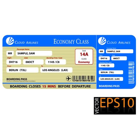 pass: Boarding Pass Economy Class