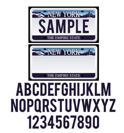 ニューヨークのナンバー プレート