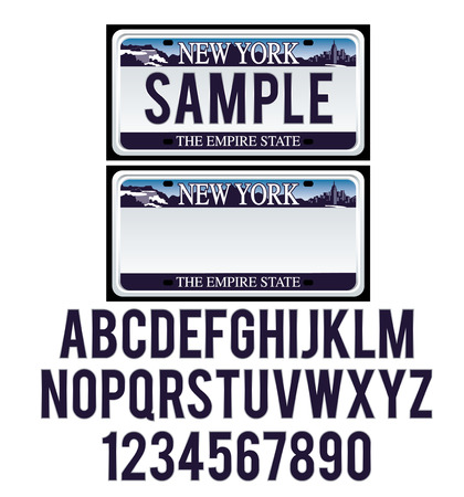 License Plate New York Illustration
