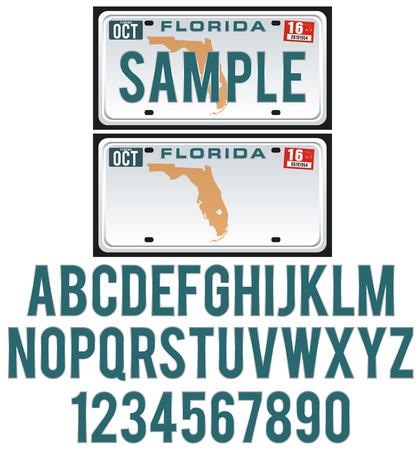 フロリダ州のライセンス プレート 写真素材 - 27564587