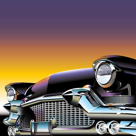 предмет коллекционирования: Старый классический автомобиль Иллюстрация