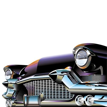 Oude Klassieke Auto Stock Illustratie