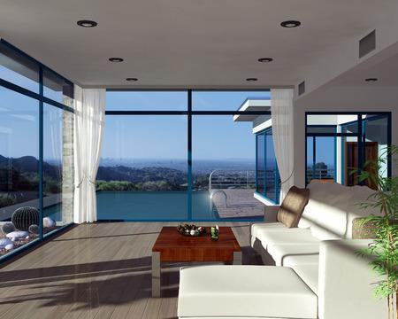 loft interior: Modern house