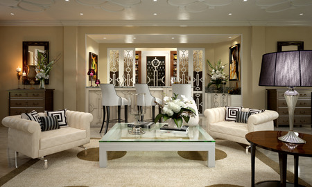 sofa furniture: Art Deco Apartment