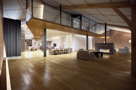Moderne Penthouse Standard-Bild - 29591195