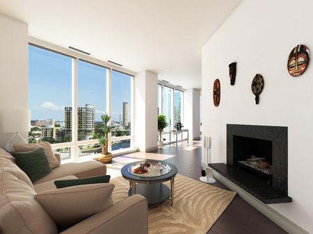 penthouse: Modern Penthouse Stock Photo
