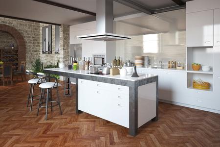 Moderne Küche Standard-Bild - 29591259