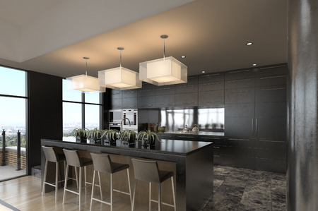 penthouse: Modern Penthouse with Kitchen