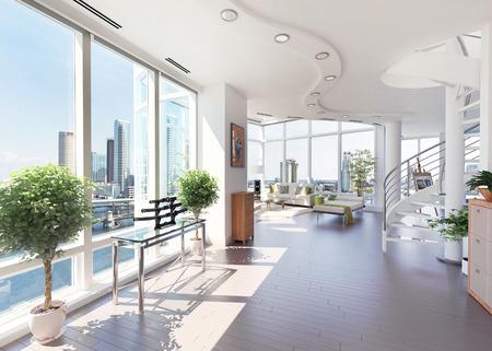 penthouse: Luxury Penthouse Stock Photo