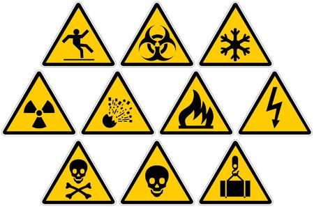 warning signs: A set of warning signs