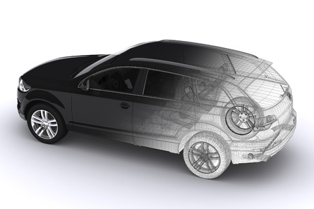 technically: Wireframe car