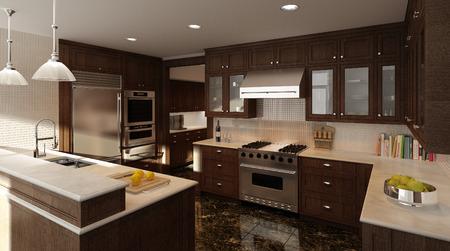 Moderne Küche Standard-Bild - 34997215