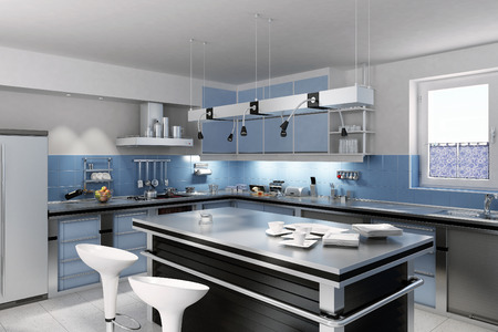 refrigerator kitchen: Modern Kitchen