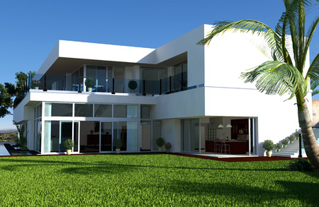 modern house exterior: Modern House Stock Photo