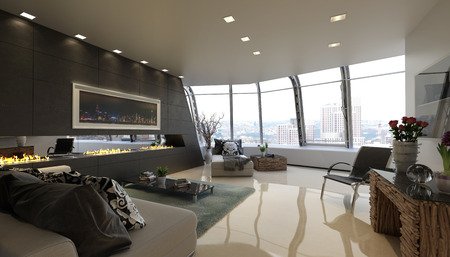 Modernes Penthouse Standard-Bild - 35708129