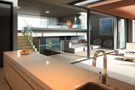 Modernes Haus Innen Standard-Bild - 35708127