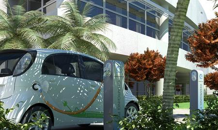 Green Energy / 3D-Rendering Standard-Bild - 37001947