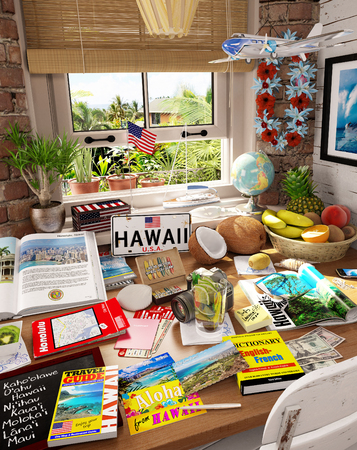 # 3 米国、ハワイの休暇の目的地 写真素材